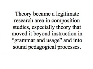 "Faigley, Lester. ""Competing Theories of Process: A Critique and a Proposal."" College  English, 48.6 (October 1986): 527-542. Print."